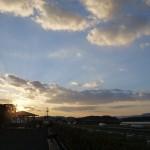 吉備路に沈む夕陽
